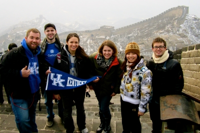 UK Students at the Great Wall